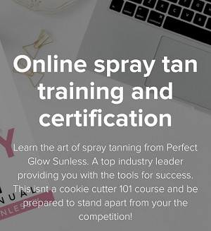 ONLINE  spray tan course